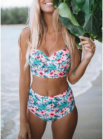 Hög Midja Rem V-ringning fashionabla Extra stor storlek bikini Badkläder
