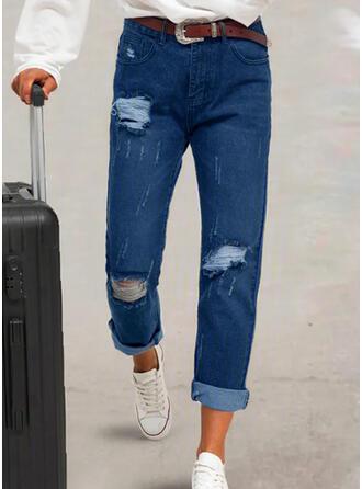 Plus Size Ripped Tribal Vintage Denim & Jeans