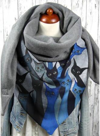 Ζώα μόδα/Φιλικό προς το δέρμα/Μαύρη γάτα Κασκόλ