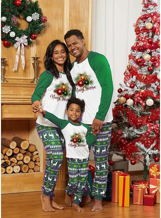 Renne Letter Inmprimé Tenue Familiale Assortie Pyjama De Noël