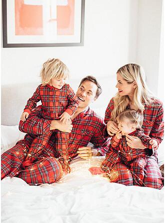 Kostkovaný De Familie Pijama