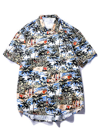 Heren Print Hawaiiaans Strand shirts