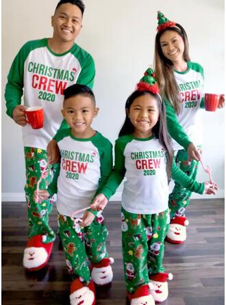 Jultomten Färg Blocket Brev Matchande familj Jul Pyjamas