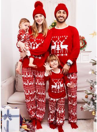 Rena Carta Família Combinando Natal Pijama