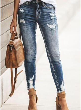Extra stor storlek Rev Elegant Sexig Denim & Jeans
