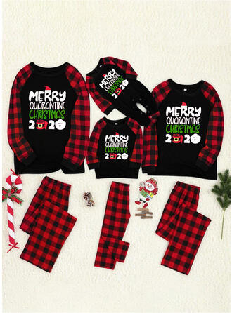 Xadrez Carta Impressão Família Combinando Natal Pijama