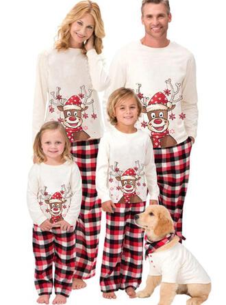Rena Xadrez Caricatura Família Combinando Natal Pijama