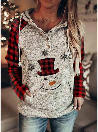 Wydrukować krata Μακρυμάνικο Χριστουγεννιάτικο μπλουζάκι