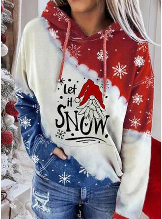 Impressão Figura Manga comprida Camisola de Natal