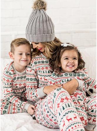 Venado Raya Impresión Familia a juego Pijamas De Navidad