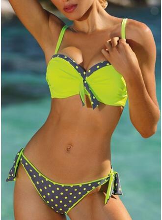 Punto Empujar Correa Sexy Lindo Bikinis Trajes de baño