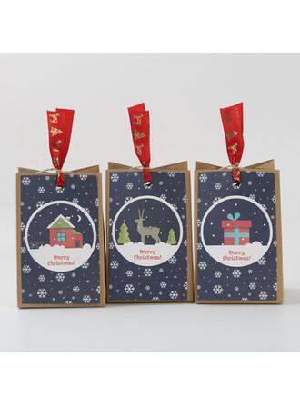 天然木材パルプ クリスマスの飾り キャンディーバッグ (12点セット)