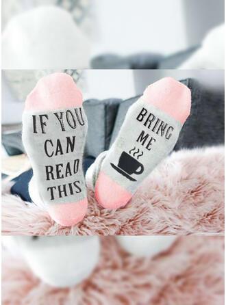 Letter/Stitching/Print Breathable/Crew Socks/Unisex Socks