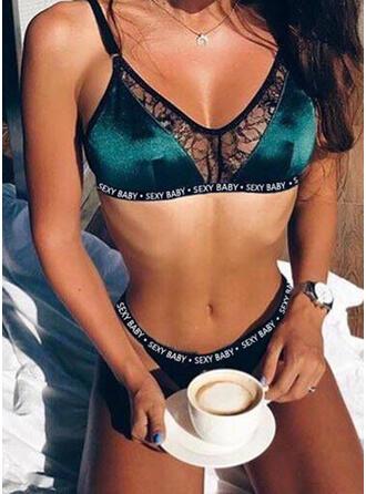 Dello spandex Pizzo Set di lingerie