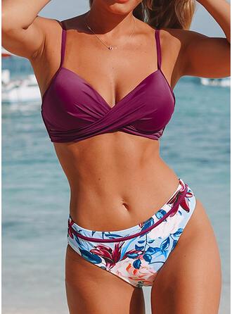 Impresión Empujar Correa Sexy Bikinis Trajes de baño