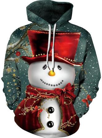 Unisexe Mélanges De Coton Inmprimé Sweat de Noël