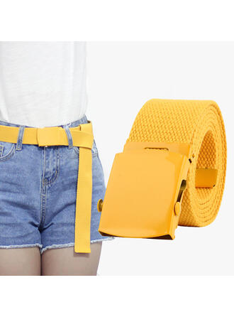 Unique Attractive Delicate Metal Buckle Braided Rope Women's Belts 1 PC