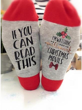 Buchstaben/Druck Atmungsaktiv/Komfortabel/Weihnachten/Unisex Socken
