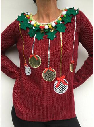 De mujer Impresión Suéter feo de navidad