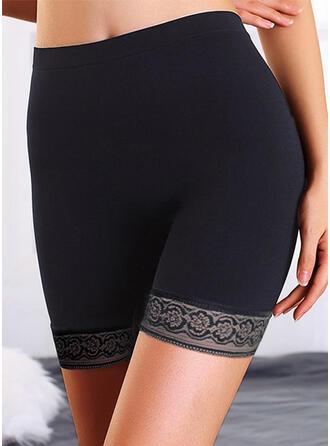 Sólido Por encima de la rodilla Casual Tallas Grande Jacquard Pantalones cortos Polainas