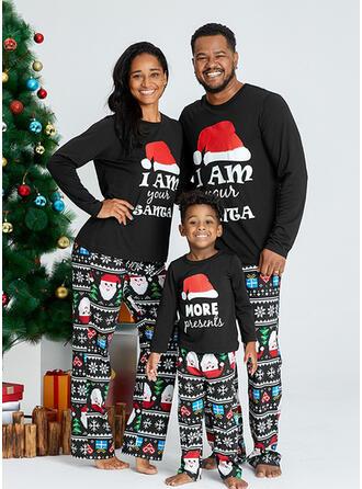 Jultomten Brev Matchande familj Jul Pyjamas