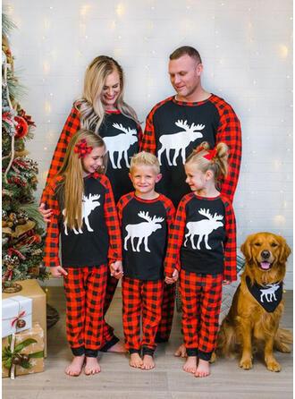 Reno Tela Escocesa Familia a juego Pijamas De Navidad