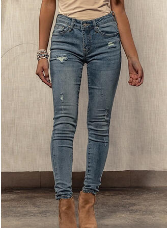 Shirred Rev Sexig Mager Denim & Jeans