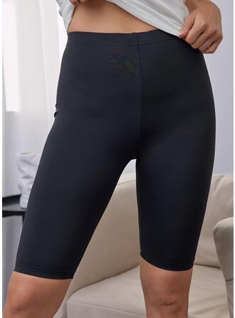 固体 膝上 カジュアル スポーティー パンツ