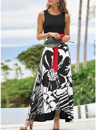 Print Sleeveless A-line Elegant/Vacation Maxi Dresses