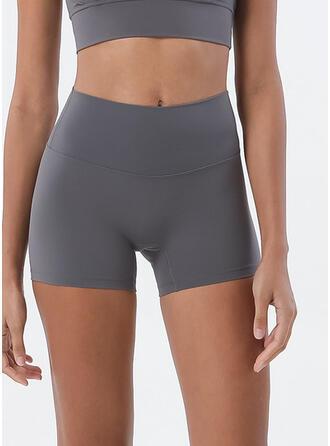 Spandex do Chinlon Cor sólida Calças de ioga / fitness Absorção de umidade