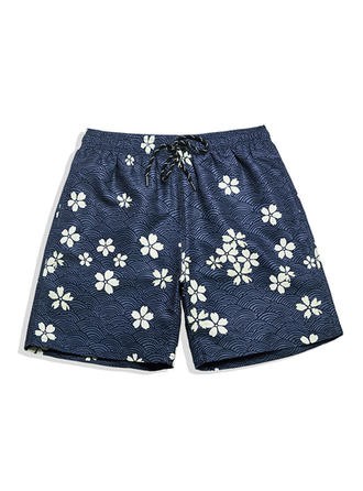 A bărbaţilor Floral captusite Pantaloni scurți