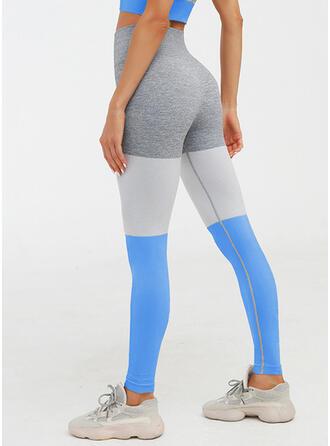 Nailon Chinlon Cor sólida Miscelânea Calças de ioga / fitness Absorção de umidade