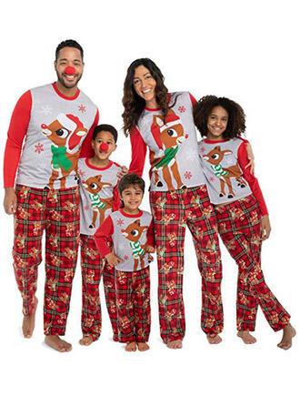 Cerb Carouri Imprimeu De Familie Pijamale De Crăciun