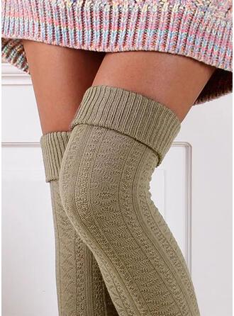 Στερεό χρώμα Ζεστός/Ανετος/Γυναίκες/Κάλτσες με γόνατο Κάλτσες/Κάλτσες