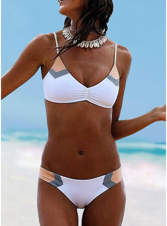 Cintura Baja Correa Cuello en V Sexy Bikinis Trajes de baño