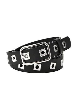 Square Buckle Alloy Leatherette Ladies' Unisex Girl's Belts