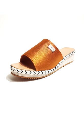 Femmes Suède Talon compensé Sandales Compensée À bout ouvert Escarpins Chaussons avec Autres chaussures