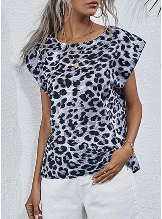 Leopard Rund-ringning Holkärm Linnen