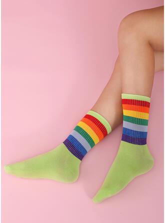 Culoare bloc Colorful/Șosete echipaj Şosete