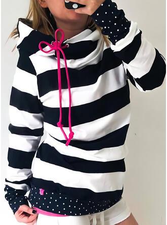 Trozos de color Manga larga con capucha