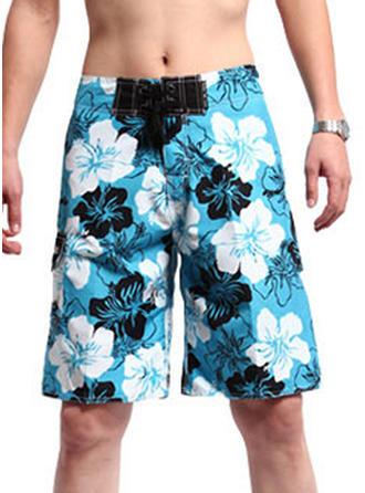 De Los Hombres Floral Pantalones cortos Traje de baño