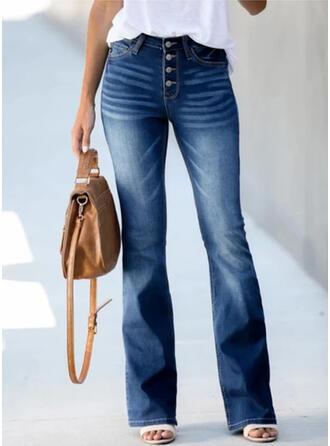 Shirred Extra stor storlek Elegant Årgång Denim & Jeans