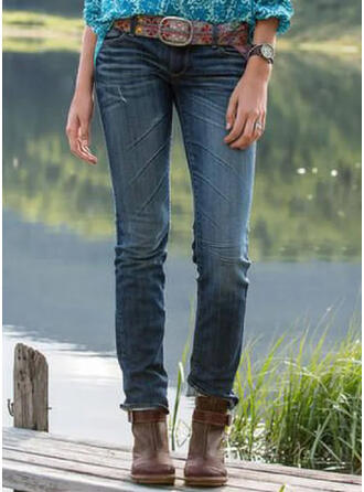arricciato Taglia grossa Lungo Elegante Tribal Denim & Jeans