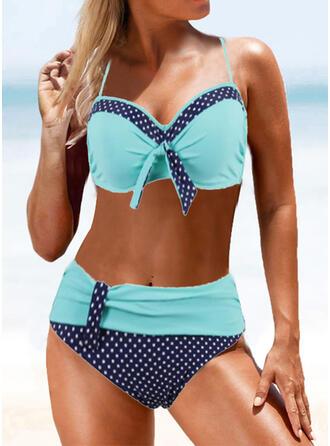 À pois Taille Haute À Bretelles Sexy Bikinis Maillots De Bain
