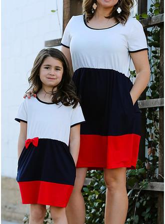 Mamá y yo Color-Block a juego Vestidos