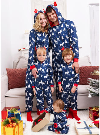 Rena Estampado Família Combinando Natal Pijama