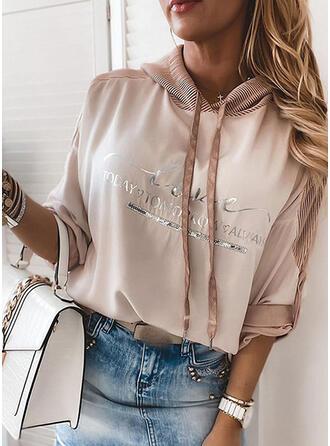 Sequins Figure Long Sleeves Hoodie