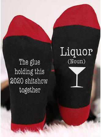 Letter/Print Breathable/Comfortable/Christmas/Crew Socks/Unisex Socks