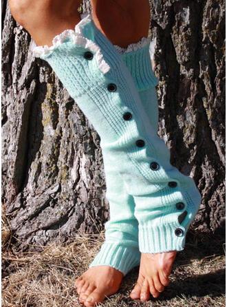 Couleur unie Confortable/aux femmes/Chaussettes en veau Chaussettes/Bas