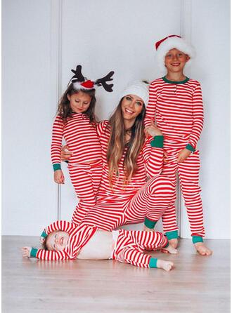 Ριγέ Οικογένεια Εμφάνιση Χριστουγεννιάτικες πιτζάμες